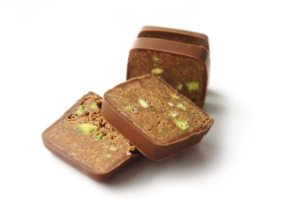 Fondant au chocolat à la pistache